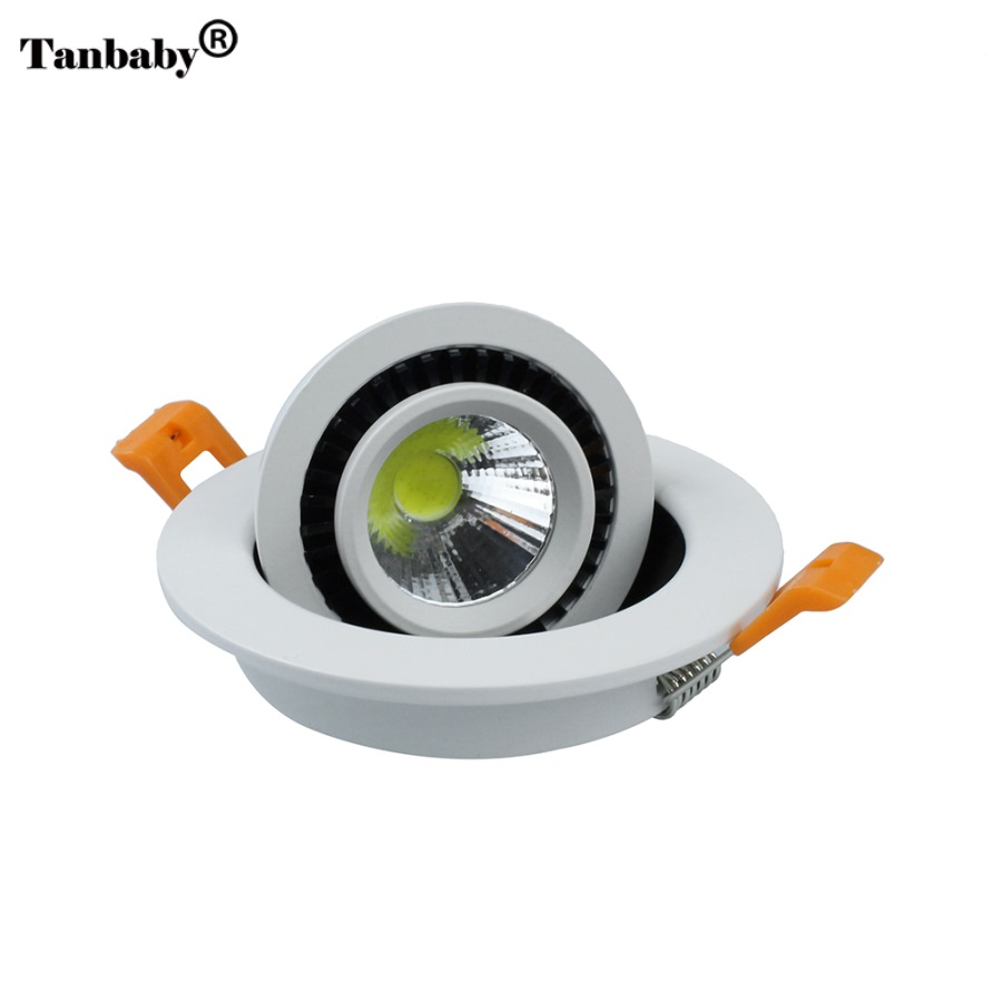 Ny Ankomst 5W / 7W / 9W / 20W COB led Innfelt downlight AC85-265V LED Spot light led taklampe med ledd drive gratis frakt