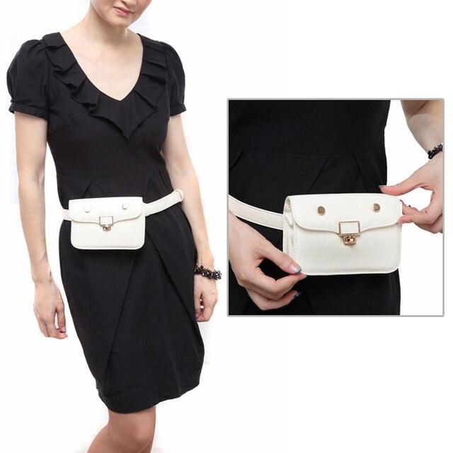 Jiessie   Angela Fashion Fanny Pack Belt Bag Waist Packs Phone Pouch Bags  Travel Waist Pack Women Leather Waist Bag 038940bdee