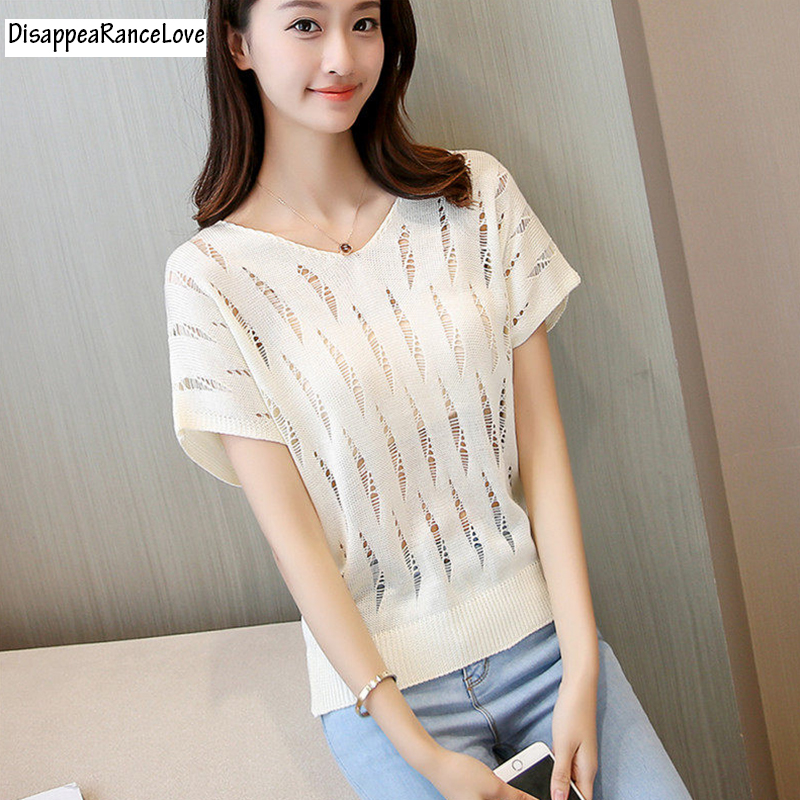 batwing sweater female thin sweater cutout design short top V-neck solid color pullover air conditioning shirt