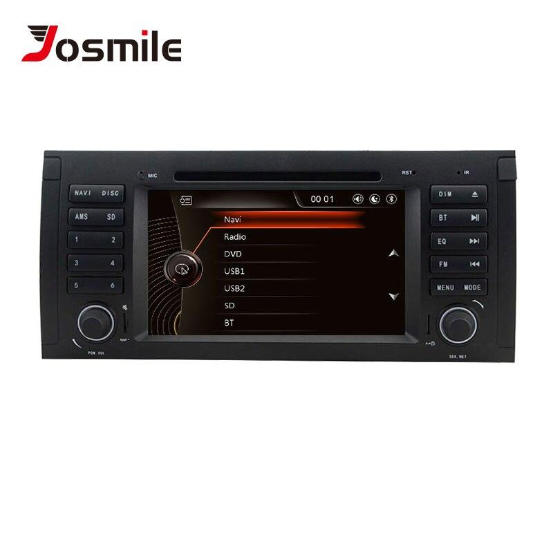 Lecteur DVD de voiture Josmlie 1 Din pour BMW E39 BMW X5 E53 M5 Radio Audio Multimeida GPS système de Navigation écran tactile unité de tête DAB +