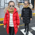 Brand White Duck Down Coats Winter Goose Down Jackets Girls Boys Warm Parka Kids Clothing Children Outwear Long Style Fur Hoody