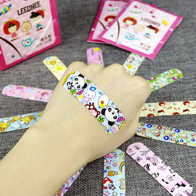 100Pcs Cartoon Waterproof Bandage Band-Aid Hemostatic Adhesive For Kids Children Infantil Cute Health Care Kit Infant Care Set
