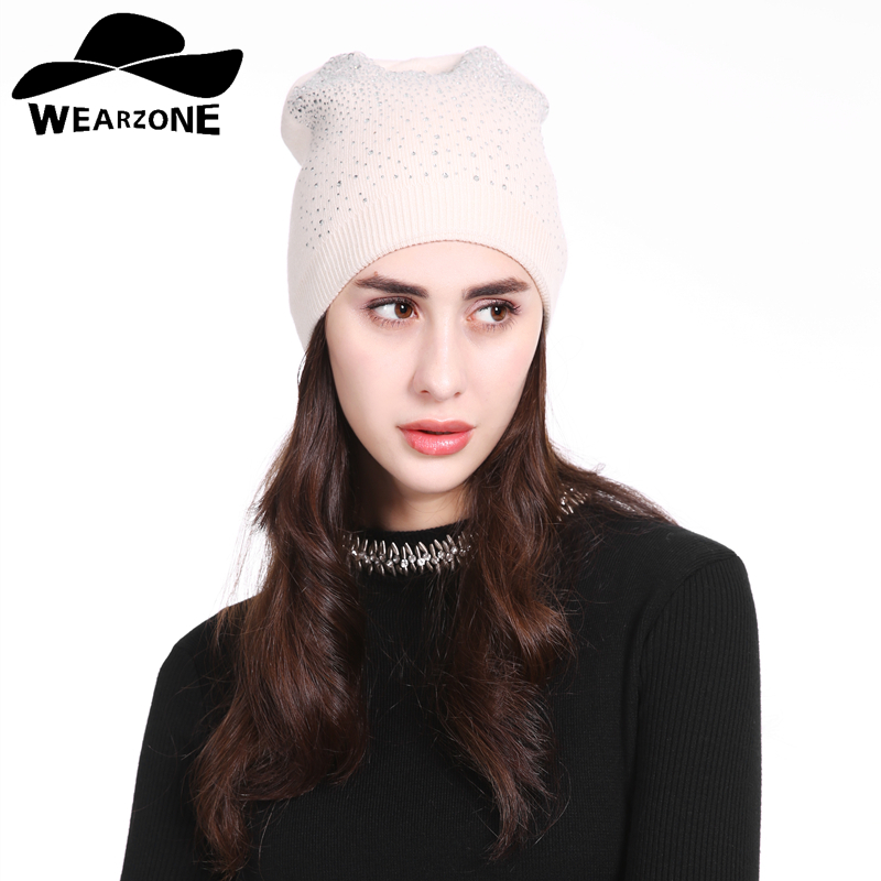 New 2017 Women Hats Wool Casual Autumn Winter Brand Layer Thick Knitted Hats For Girls Skullies Beanies