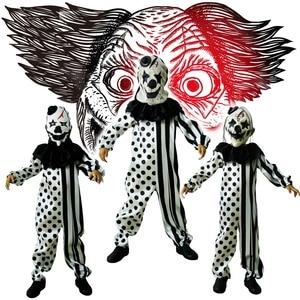 Image 1 - בני מפחיד ליצן תחפושות ליל כל הקדושים מסיבת תחפושות תפקיד לשחק תלבושת ילדי עם מסכת רוצח תחפושת מסיבת סטים