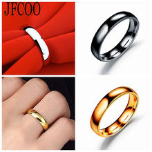 Stainless Steel Men's Black Ring Classic For Male Wedding Bands Jewelry Dropshipping(China)