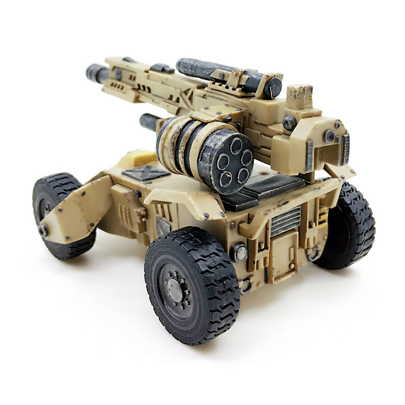 JOYTOY 1/27 Tank Turret  Honey Badger Attack Vehiche Movable Model Block Toys Free Shipping