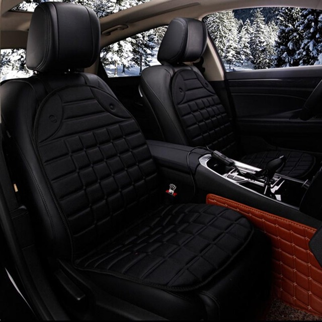 Electric Heated car seat Cushion Winter Car seat Pad  Car Heated Seat Covers Universal Conjoined Supplies Black Gray