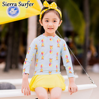 Korean Version Of The New Children S Swimsuit Girls Fashion Neck Long Sleeve Sunscreen Sweet
