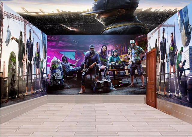 3d room wallpaper landscape custom mural Hip hop dance topic space