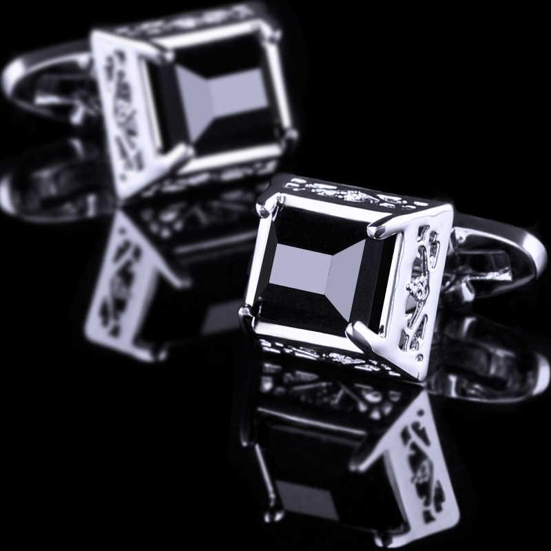 KFLK jóias hot 2019 NOVA camisa abotoaduras para Presentes Marca botões de punho dos homens abotoaduras de Alta Qualidade abotoaduras Preto jóias