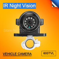 Vehicle Security System Front /Rear Side View CCD Analog Camera With Silver Holder 3.6MM 4 Pin Car Side Camera For Bus