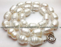 Wholesale Free Shipping 12 14mm The White Tahitian Cultured Pearl Necklace 18