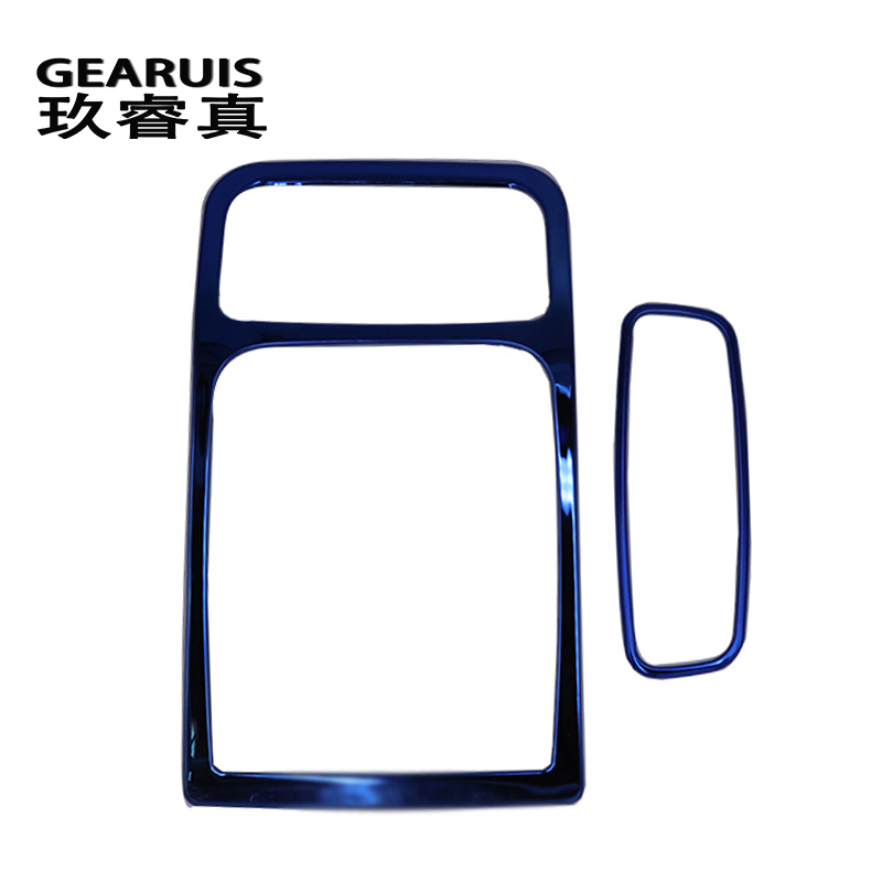 Car styling Interior molding Car Roof Reading Lamp frame decoration Blue Stainless Steel Dome Light trim panel For Audi A3 8V Q3