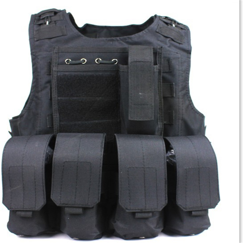 Combat Molle Amphibians design military Tactical vest WIRE-STEEL-IN Black Color - Paintball & Airsof Equipment store