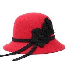 Faux Wool Ladies Church Bowler Style Hat