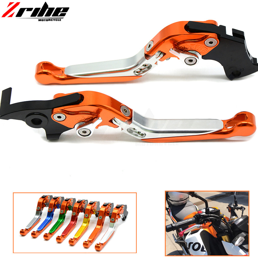 Brake Folding Adjustable Motorcycle accessories Brake Clutch Levers Telescopic folding For ktm ADVENTURE 1050 2016 16 billet alu folding adjustable brake clutch levers for motoguzzi griso 850 breva 1100 norge 1200 06 2013 07 08 1200 sport stelvio