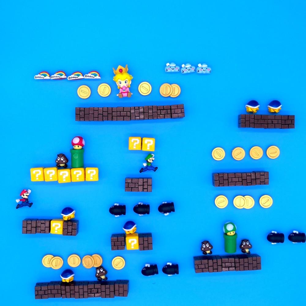 90/64Pcs fridge magnet Super Mario Doll Fridge Sticker Refrigerator Message Sticker Children Student Toys Birthday Gift