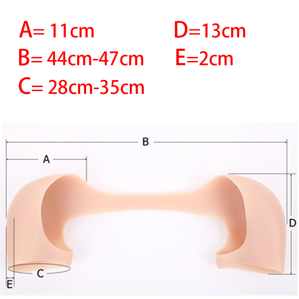 IVITA Artifical Silicone Beige Shoulder Forms Realistic Fake Shoulder For Men Women Crossdresser Shemale Transgender Drag