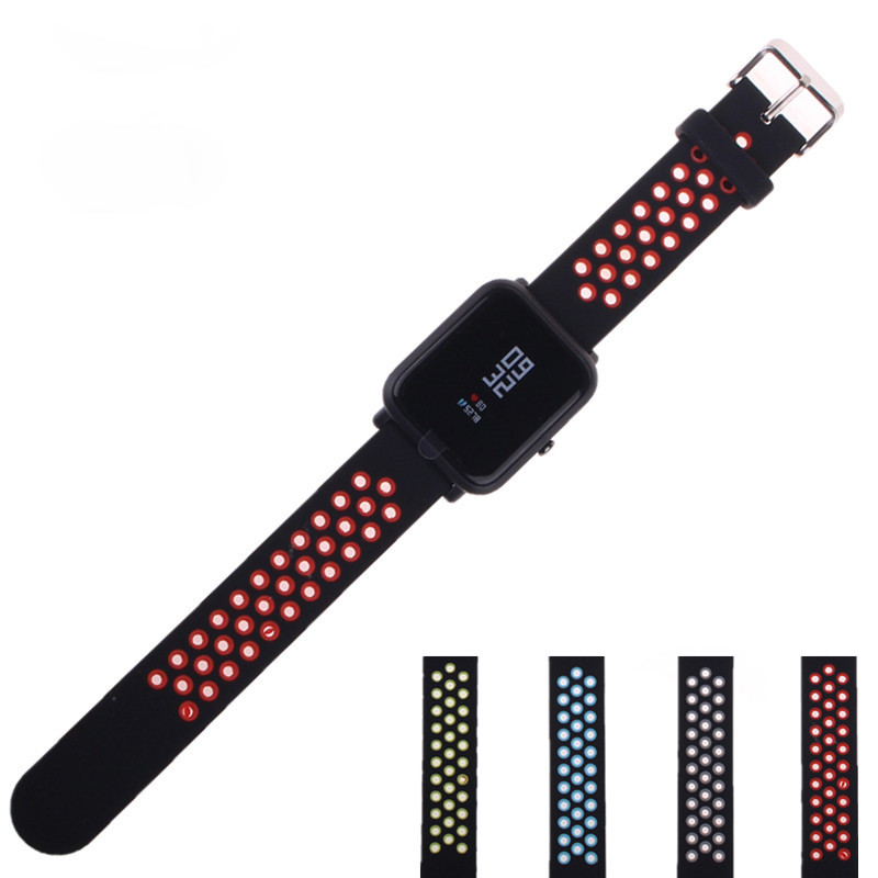 FGHGF Silicone Strap For Xiaomi Huami Amazfit Bip BIT PACE Lite Youth Smart Watch Band for Huami Amazfit youth bracelet strap умные часы huami amazfit bip youth edition оранжевый