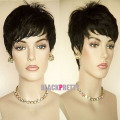 Rihanna Hairstyle Black Wig Short Pixie Cut Wigs For Black Women Short Black Wigs Heat Resistant Synthetic Black Wig
