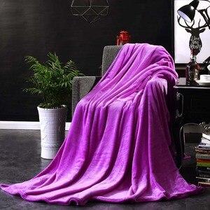 Image 1 - CAMMITEVER Home Textil Reine Farbe Weiß Kaffee Grün Feste Luft/Sofa/Bettwäsche Wirft Flanell Decke Alle Jahreszeiten Weichen bettlaken
