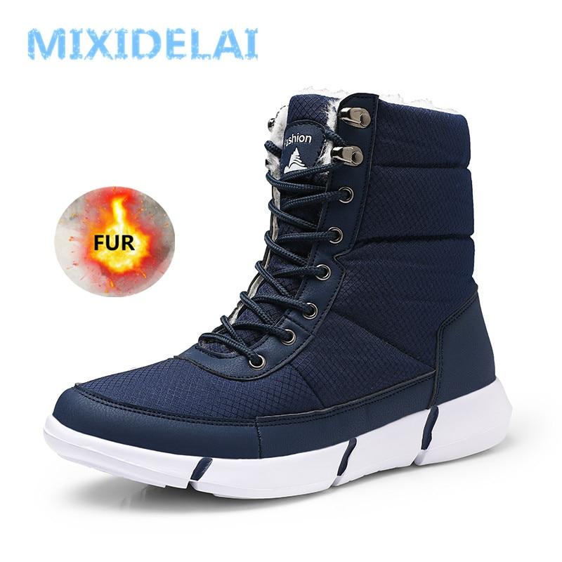 Winter Waterproof Snow Men Boots Shoes