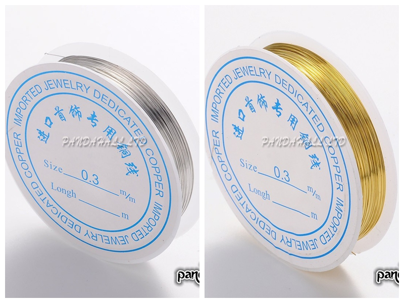 0,3mm 25 mt/roll Kupfer Metall Perlen Handwerk DIY Schmuck ...