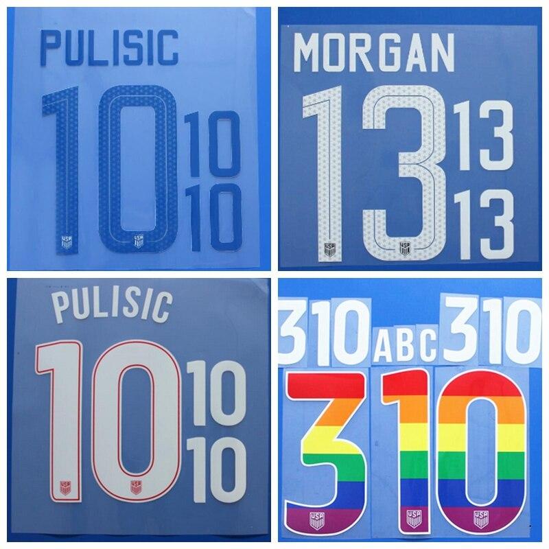 682d69aca MORGAN stamping patches badges USA PUGH DEMPSEY PULISIC BRADLEY LLOYD  custom number