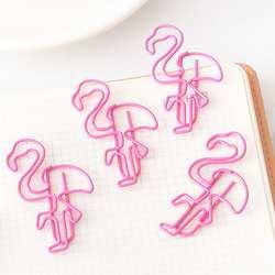 10 шт. сладкий розовый Фламинго закрепить зажим для бумаги школьные канцелярские принадлежности Эсколар Papelaria подарок канцелярские