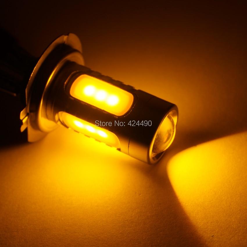 AORUNYEBAO 12V 24V H7 led 7,5W 5LED COB Бяло жълто - Автомобилни светлини - Снимка 3