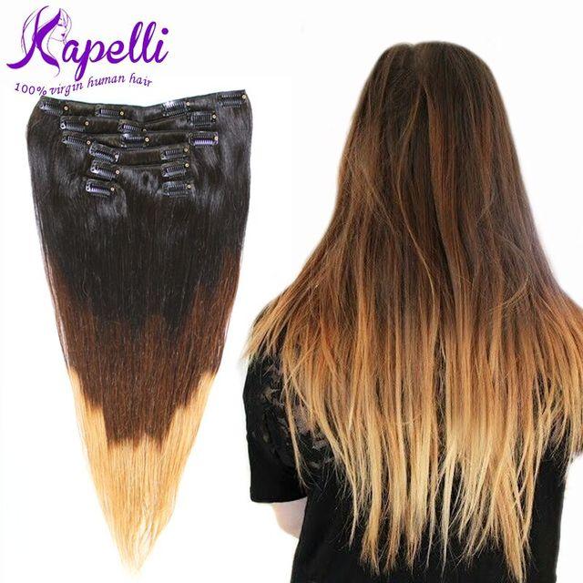 Pré-ligado Brasileira Grampo de Cabelo Virgem em Extensões de Cabelo Humano de Fusão Grampo de cabelo em Trama Venda Grande Grampo de Cabelo Humano em extensões