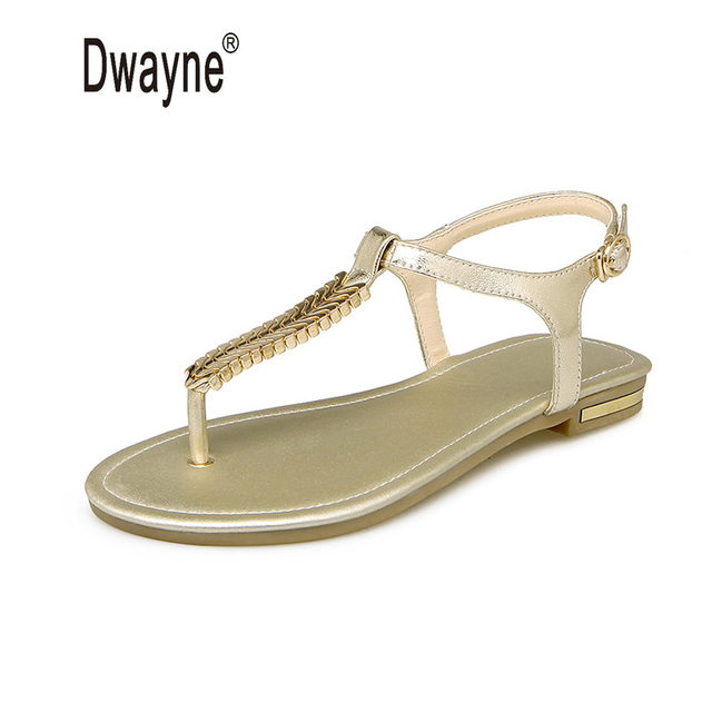 Big Size Women Cow Leather Shoes Summer Sandals Shoes Woman Sandals chaussure femme Sandalias Mujer sandalia feminina M203-19-50