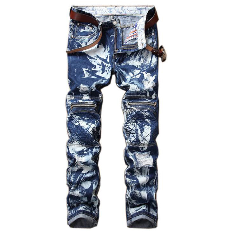 2017 men jeans new fashion casual straight jeans male high quality Holes pleated  jeans men ripped  jeans for men пена монтажная tytan o2 stdзимняя 750 мл