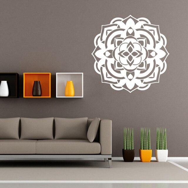 Wandaufkleber Mandala Blumen Indischen Schlafzimmer Wohnzimmer Wandtattoo  Wandbild Dekoration Wand Poster Liefern