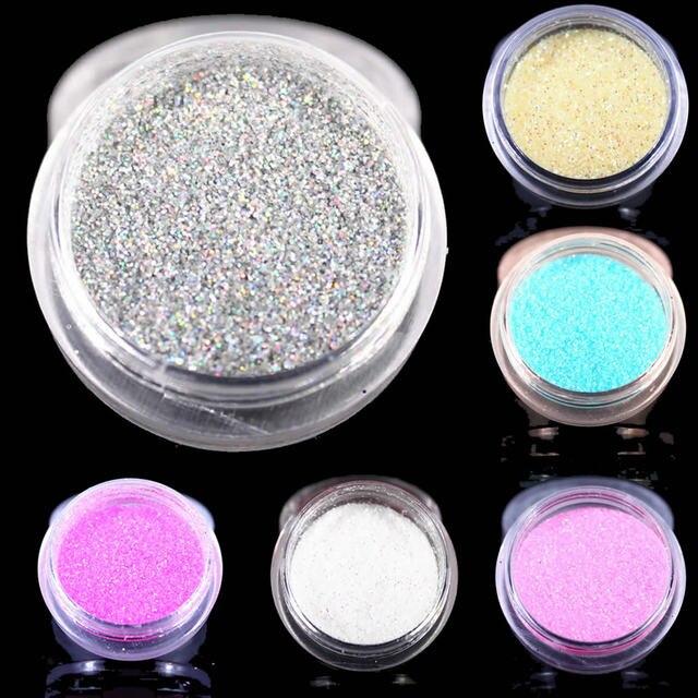 12 Kleuren Glitter Nail Art Dust Tool Kit Acryl Gem Nagellak