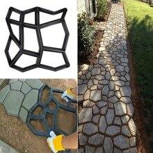 Дорожка производитель плесень многоразовый Бетон цемент камень дизайн асфальтоукладчик ходьба форма DIY многоразовая форма для бетонных кирпичей