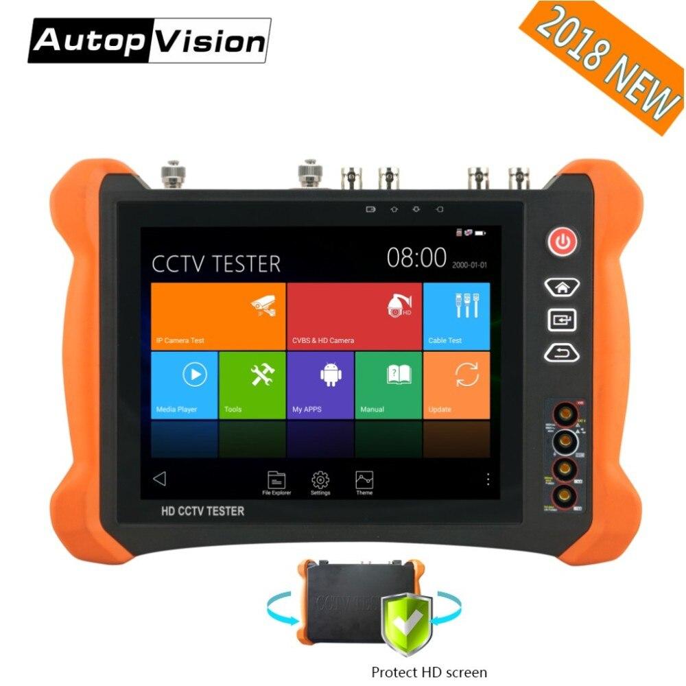 DHL Freies X9 8 zoll H.265 4 karat 8MP IP Kamera Tester 2 karat touchscreen TVI CVI AHD SDI CVBS CCTV Tester Monitor mit TDR, kabel tracer