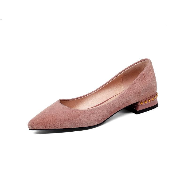 the latest c11ac 40d70 Glisser Negro 43 Zapatos Moda Sur Hueco Grande Rojo Tacones Bombas  Cuadrados Cuero Bajos 34 De ...