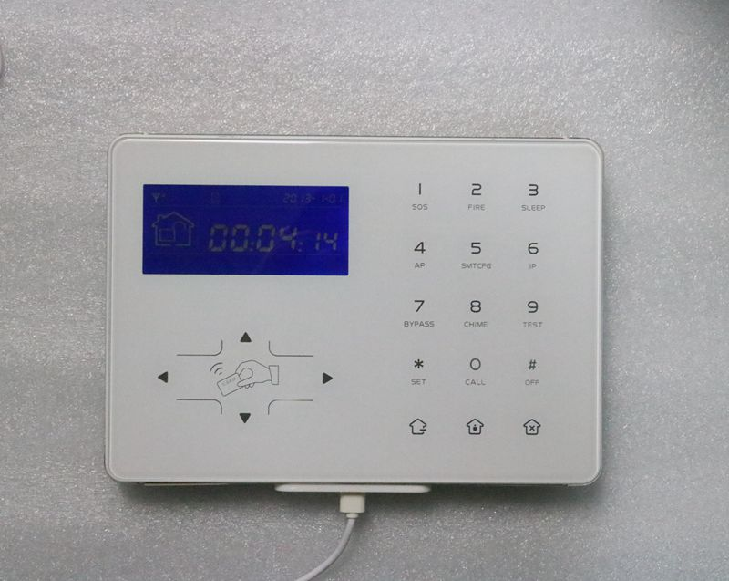 HTB1AYoyfQ.HL1JjSZFuq6x8dXXap - Focus 433Mhz Or 868Mhz option Wireless two Way Keypad With LCD back light USB recharge working with HA-VGT Alarm System