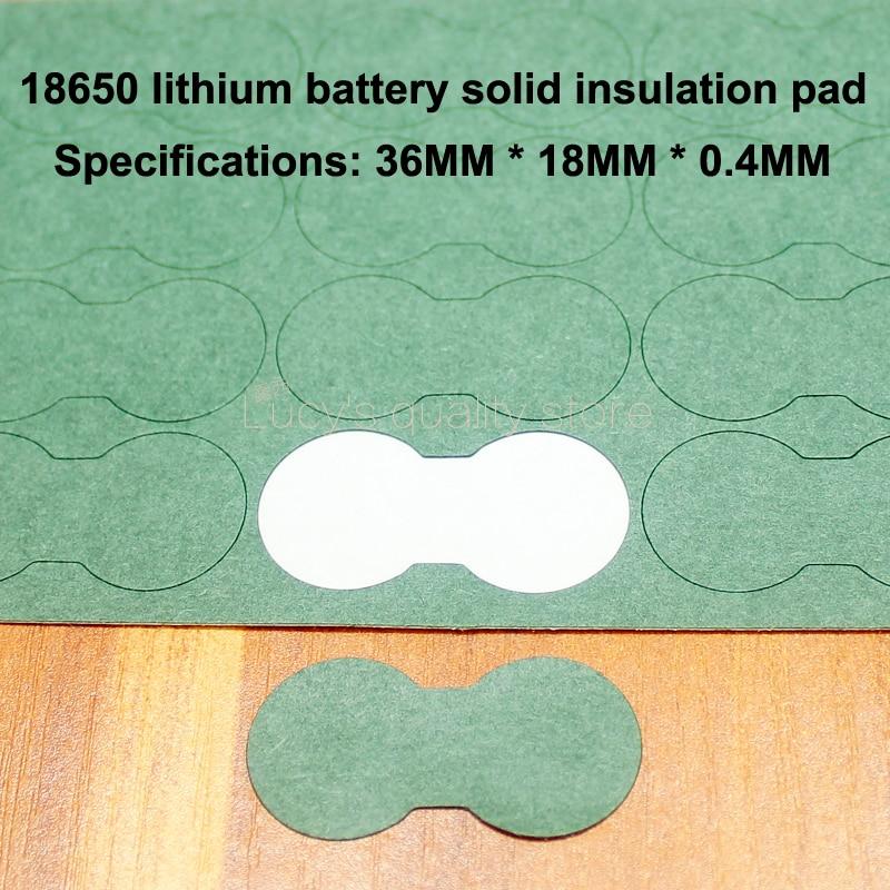 Купить с кэшбэком 100pcs/lot 2 And 18650 Lithium Battery Insulation Gasket Meson 3 Series Solid Flat Pad Diy Fittings