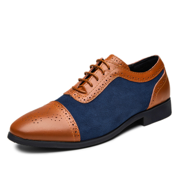 Men's Dress Shoes 2019 NEW Arrival Formal Business Shoes Men Vitage Design Lace-Up Leather Shoes