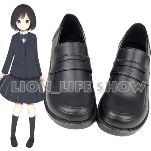 3 colors JK <font><b>shoe</b></font> <font><b>Women</b></font> Japanese Student Uniform Maid <font><b>Lolita</b></font> Low Heel Round Toe Cosplay <font><b>Shoes</b></font> image