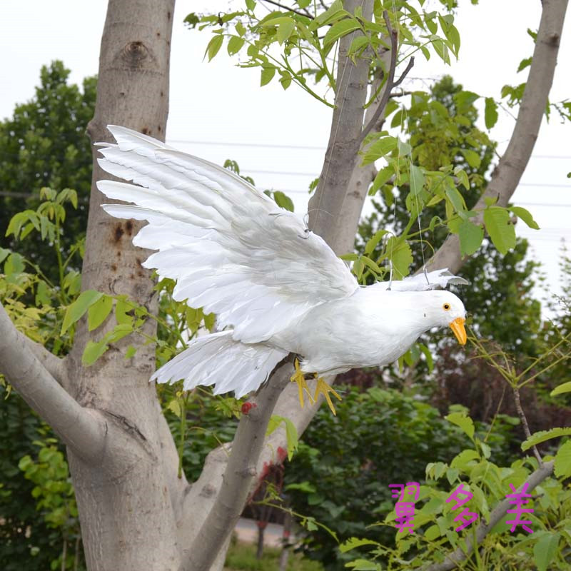 large 42x80cm simulation dove model toy,plastic foam & feathers spreeading wings peace bird ,Home Decoration xmas gift w5606 huge creative simulation wings seagull toy plastic