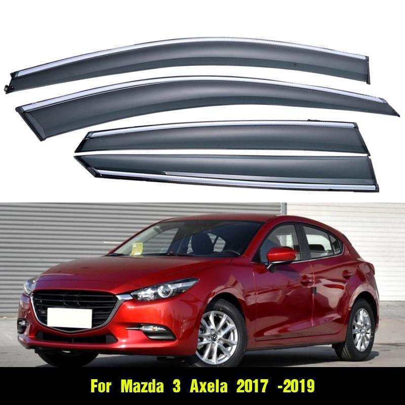 Vtear For Mazda 3 Axela hatchback sedan window visor Windows side Sun Rain Protection Shield Exterior
