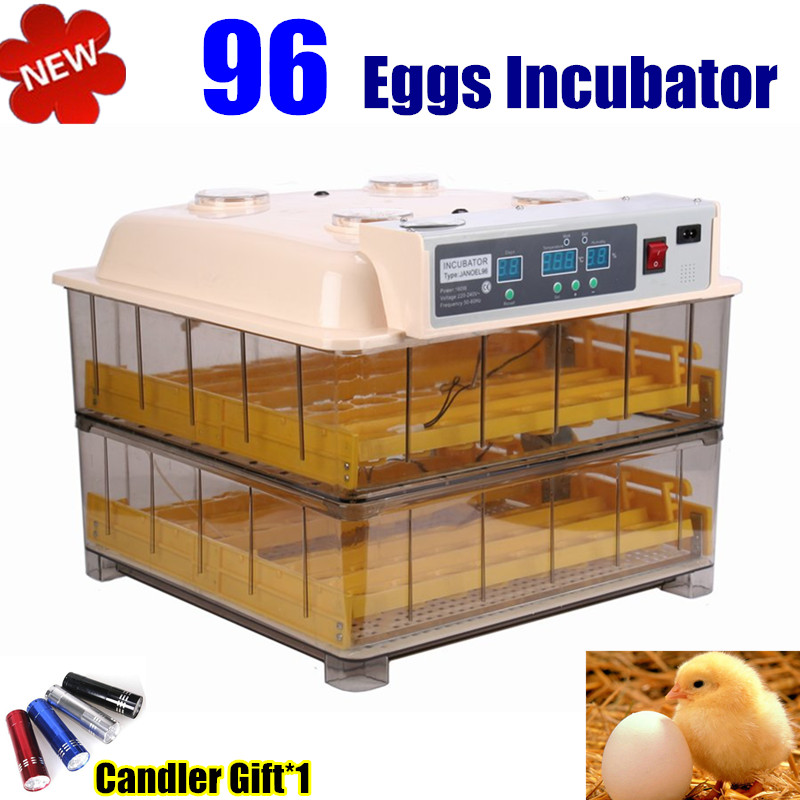 Newly Automatic 96 Eggs Incubator Digital Control Turner Easy Observation for Poultry waterfowl brand new digital fully automatic 96 eggs incubator eggs turner for chicken hens ducks