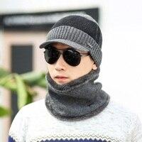 VBIGER 2 cái Đàn Ông Phụ Nữ Winter Hats Skullies Beanies Hat Winter Beanies Len Khăn Mũ Balaclava Mask Gorras Bonnet Dệt Kim Hat