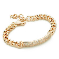 New Brand Crystal CZ Hand Link Chain Bracelet Gold/ Rose Gold Silver Color Bracelets For Women Jewelry Pulseira Feminina