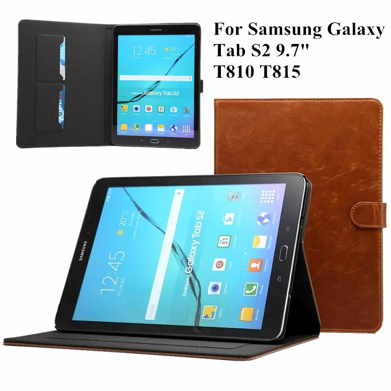 PU Leather Case for Samsung Galaxy Tab S2 9.7 Inch T810 T815 SM-T810 Business Flip Stand Tablet Cover with Magnetic Card SlotsPU Leather Case for Samsung Galaxy Tab S2 9.7 Inch T810 T815 SM-T810 Business Flip Stand Tablet Cover with Magnetic Card Slots