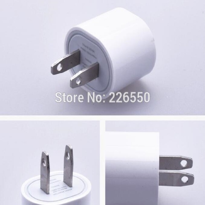 10pcs/lot US Plug 5V 1A AC USB Charger Wall Power Adapter For IPhone Samsung HTC Cell Phones By CN With Tracking Information