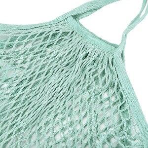 Image 4 - Handbag 2019 New Mesh Net Turtle Bag String Shopping Bag Reusable Fruit Storage Handbag Totes